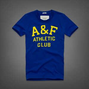 Abercrombie 아베크롬비 남녀공용 반팔 티셔츠 제이레인지(Jay Range) - 블루