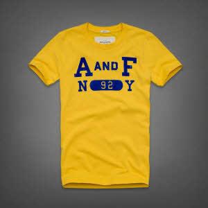 Abercrombie 아베크롬비 남녀공용 반팔 티셔츠 제이레인지(Jay Range) - 옐로우