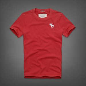 Abercrombie 아베크롬비 남녀공용 반팔 티셔츠 캠쉘마운틴(Kempshall Mountain) - 레드