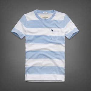 Abercrombie 아베크롬비 남녀공용 반팔 티셔츠 베어런(Bear Run) - 라이트블루스트라이프