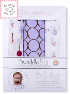 Swaddle Design 스와들디자인 SD 라이트 선물세트 3종 아기 속싸개 - 라벤더