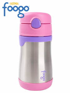 Foogo 써모스 푸고 흘림방지 보온보냉 빨대컵 290ml - 핑크