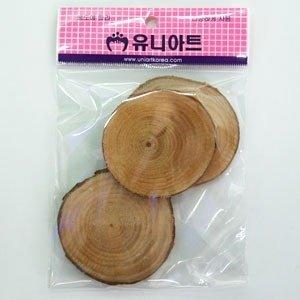 2000 천연나무조각16/만들기재료/팬던트/그리기나무조각(2개입)
