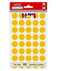 동그라미 스티커(3001A-16mm)노랑