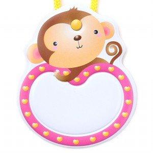 옷핀형 명찰 (원숭이)(5개입)