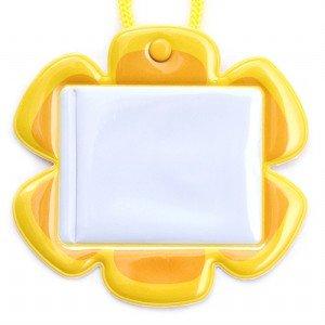 플라워 유아초등용명찰(노랑)(5개묶음)