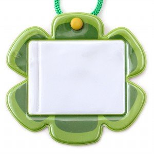 플라워 유아초등용명찰(녹색)(5개묶음)