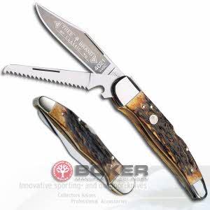 [보커] 나이프 자크트 타쉔 메서 듀오(F/S) Pocket knife / Boker Folding Hunting Knife