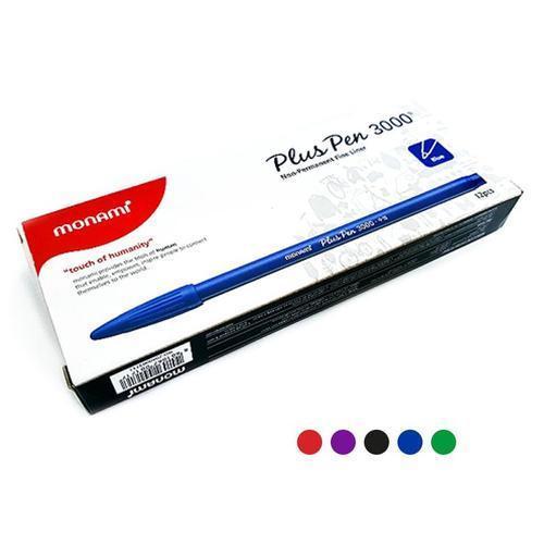 모나미 3000 플러스펜 12개 수성펜 사인펜 0.4mm