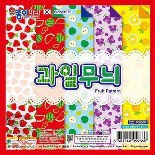 1500 과일무늬 색종이 종이나라 색종이접기