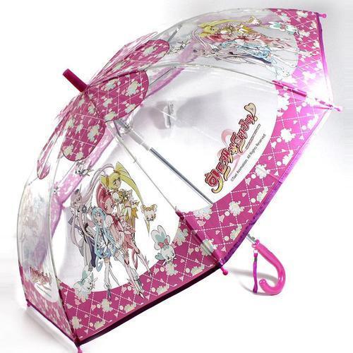 프리큐어 53 자동우산 시야확보 투명우산 아동 장우산
