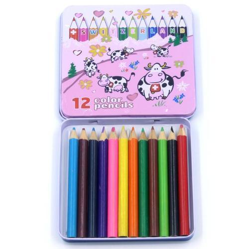 1500 12색 틴케이스 색연필세트 어린이집 유치원 선물