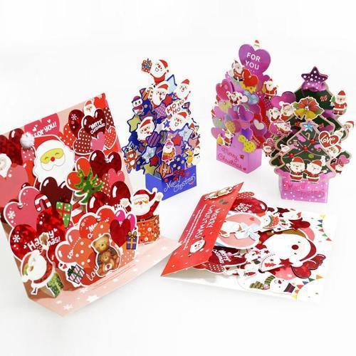 2000 크리스마스카드 수공 고급 입체카드 단체선물