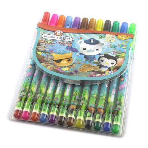 4000 아토 바다탐험대 옥토넛 12색 싸인펜
