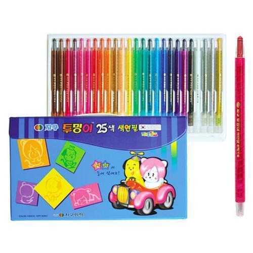 12000 지구 투명이 색연필 25색 (샤프식)