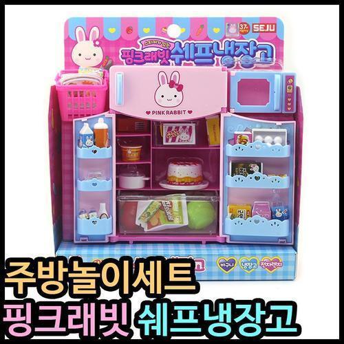 16000 세주 핑크래빗 쉐프냉장고 소꿉놀이 주방놀이 어린이선물