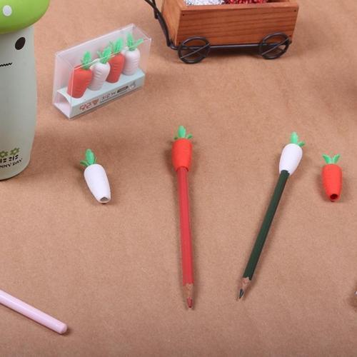 1000 당근캡 지우개 연필 펜에 끼워서 사용가능