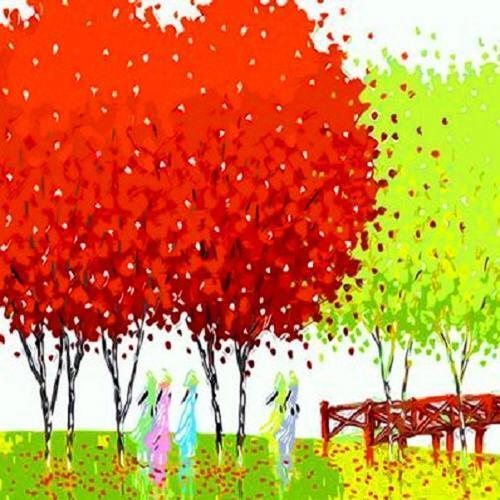 40000 피포페인팅 Q481 행운의나무 DIY 명화그리기