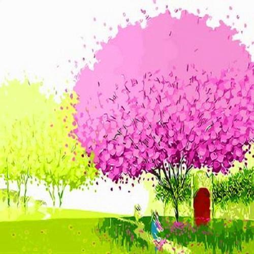 40000 피포페인팅 Q483 행운의나무 DIY 명화그리기