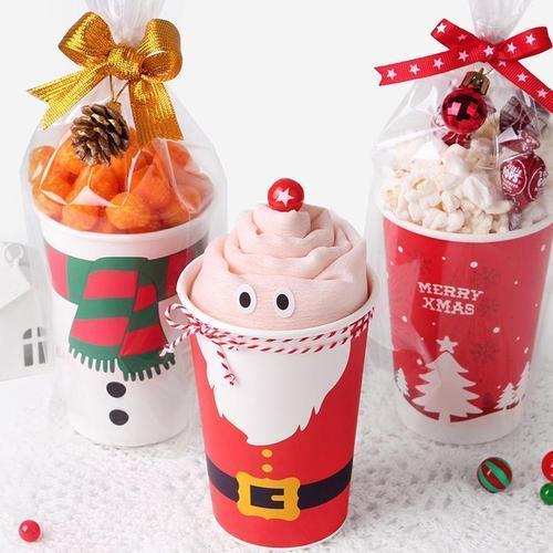 크리스마스 파티컵 중-3개입 성탄절 종이컵 장식 소품