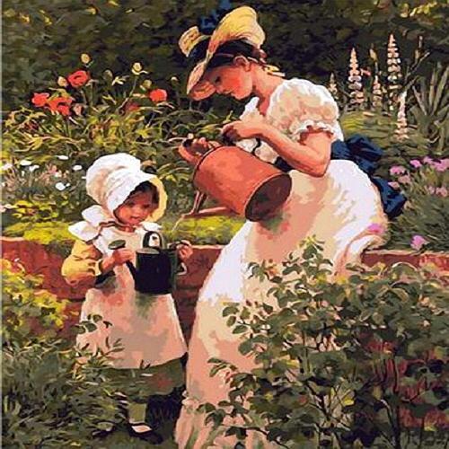 피포페인팅 Q1417 엄마와 정원에서 DIY 명화그리기 홈갤러리