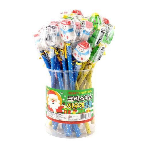 500 크리스마스지우개연필 36개 묶음 어린이 단체선물