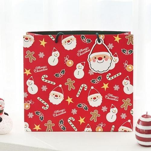 2000 해피 크리스마스 쇼핑백(l) 선물포장