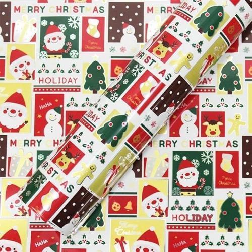 10000 크리스마스 선물 비닐 롤 포장지 20m 메리