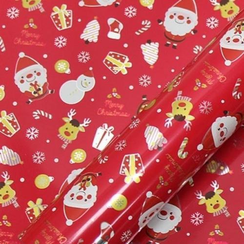 10000 크리스마스 선물 비닐 롤 포장지 20m 해피산타