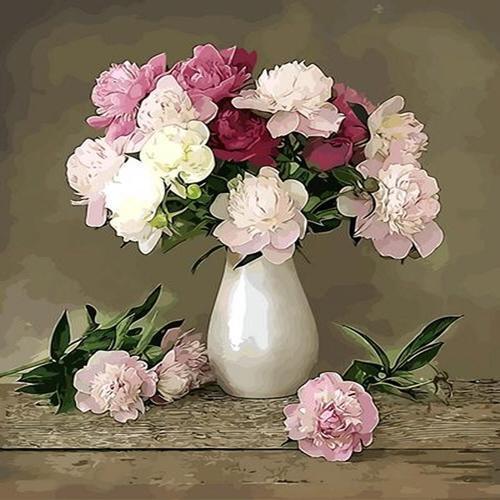 피포페인팅 Q3085 꽃정물화 DIY명화그리기 홈갤러리