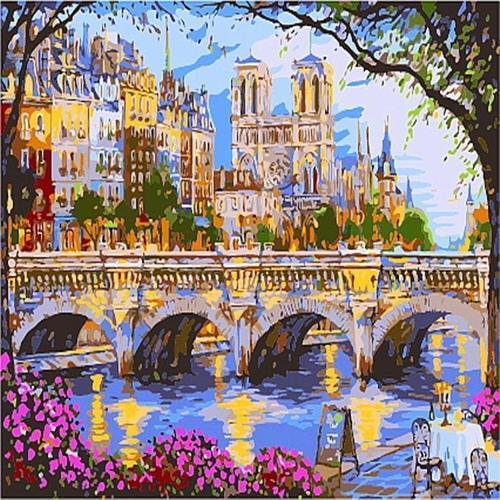 피포페인팅 B985 아름다운 유럽도시풍경 DIY명화그리기 홈갤러리