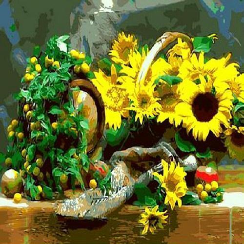 피포페인팅 Q692 햇살가득한 해바라기 DIY명화그리기 홈갤러리
