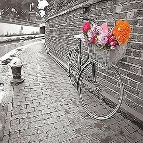 피포페인팅 Q4170 자전거있는풍경 DIY명화그리기 홈갤러리