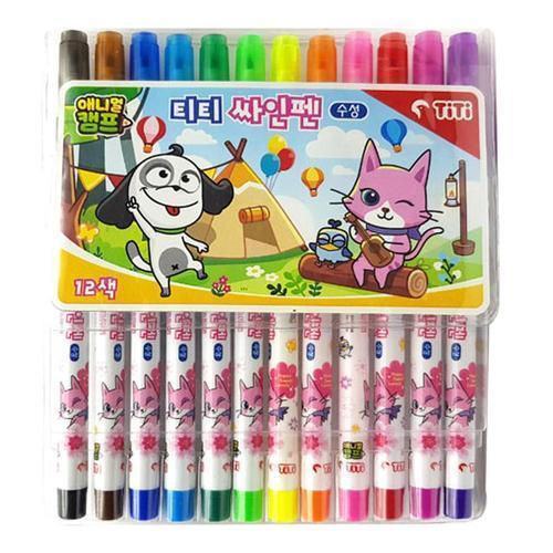 아이윙스 3000 티티 사인펜 12색 애니멀캠프 싸인펜
