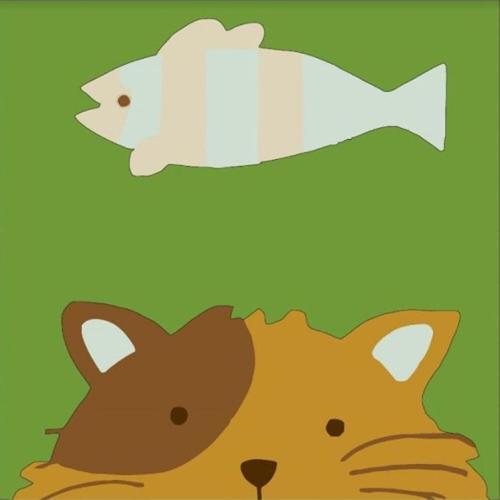 아이윙스 피포페인팅 GM208 고양이와생선 30x30 DIY명화그리기 셀프페인팅