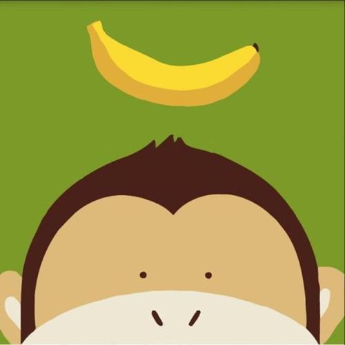 아이윙스 피포페인팅 GM203 원숭이와바나나 30x30 DIY명화그리기 셀프페인팅