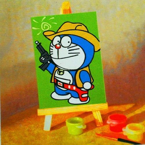 아이윙스 피포페인팅 미니 DX007 귀여운건맨 10x15 DIY명화그리기 셀프페인팅