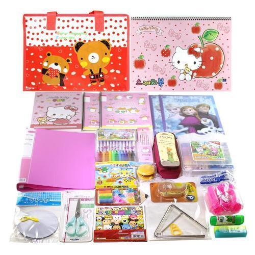 아이윙스 베스트 종합문구세트 1호 여아용 초등학교입학선물 유치원어린이집졸업선물