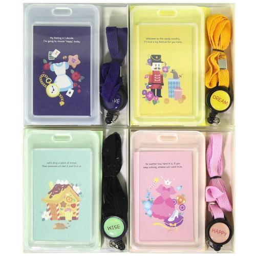 아이윙스 2000 러블리 릴타입 목걸이 투명 명찰 카드케이스