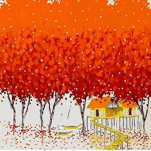 아이윙스 35000 피포페인팅 Q472 행운의나무 시리즈 DIY명화그리기