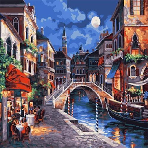 아이윙스 35000 피포페인팅 Z082 베네치아의 어느카페풍경 DIY명화그리기