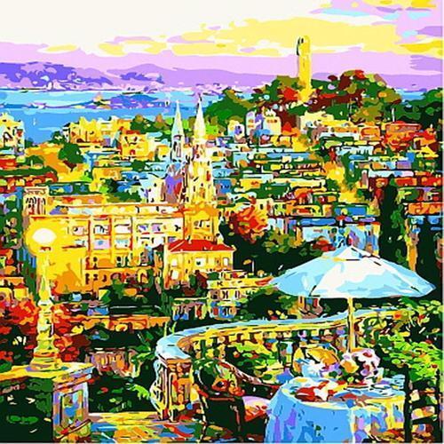 아이윙스 35000 피포페인팅 b983 이태리 도시풍경 diy명화그리기