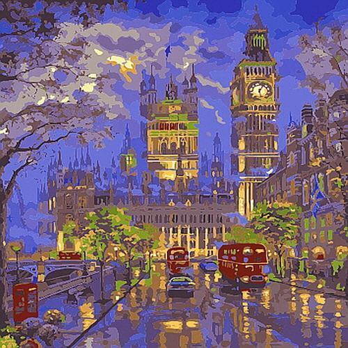 아이윙스 35000 피포페인팅 b681 런던의 거리풍경 diy명화그리기