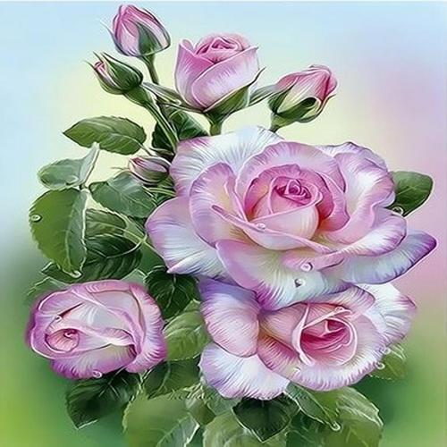 아이윙스 40000 피포페인팅 q3454 핑크로즈 diy명화그리기