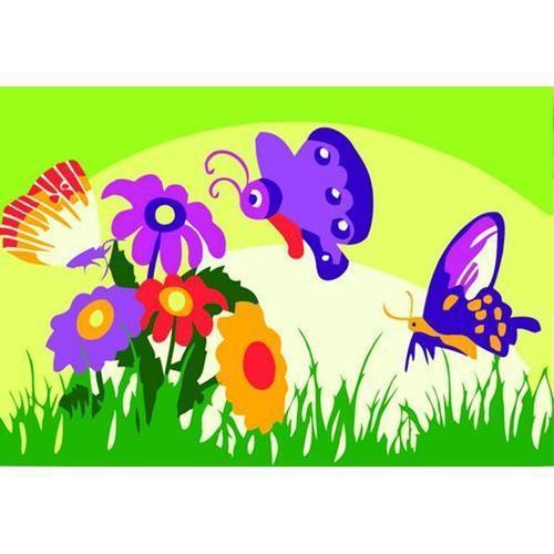 아이윙스 피포페인팅 미니 gb106 꽃과나비 15x10 diy그림그리기 셀프페인팅