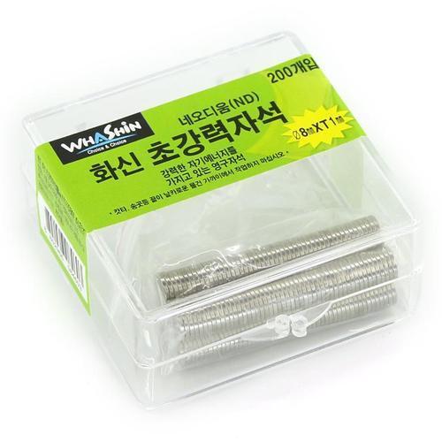 아이윙스 화신 초강력자석 네오디움 200개입 8mm 1t