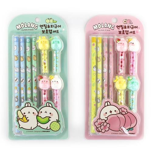 아이윙스 3000 몰랑 연필 피규어 보호캡세트 어린이선물