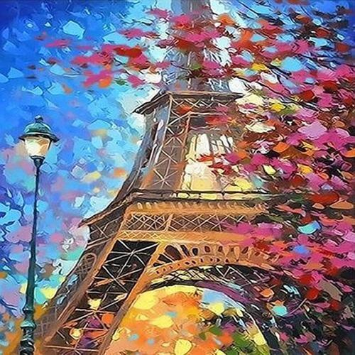 아이윙스 40000 피포페인팅 q3478 가을에펠탑 diy명화그리기 diy그림그리기