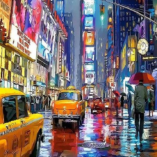 아이윙스 40000 피포페인팅 Q3673 뉴욕 타임스퀘어 DIY명화그리기 DIY그림그리기