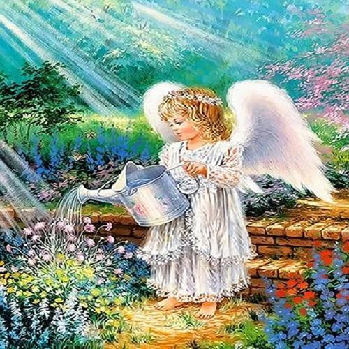 아이윙스 40000 피포페인팅 q3636 어린천사 diy명화그리기 diy그림그리기